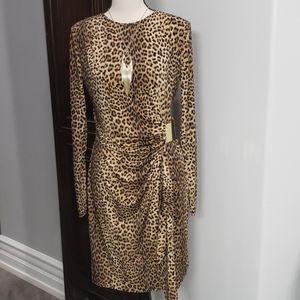 NWOT MK Cheetah jersey dress